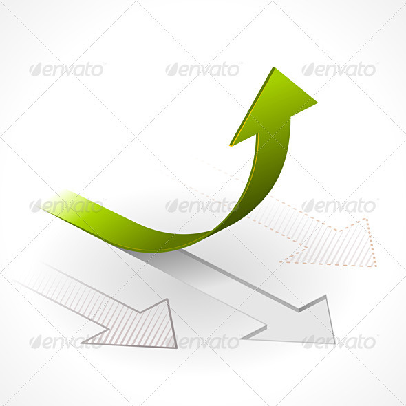 Onwards & Upwards Arrows - Business Conceptual