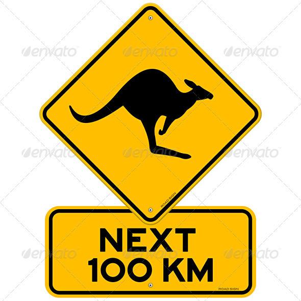 Kangaroos Next 100 km - Travel Conceptual