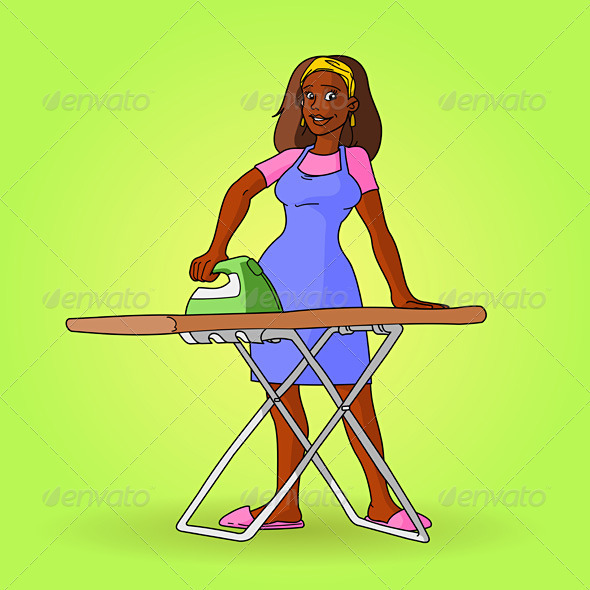 African Housewife Vector - People Characters