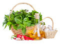 Fresh Herbs with Olive Oil and Spices - PhotoDune Item for Sale