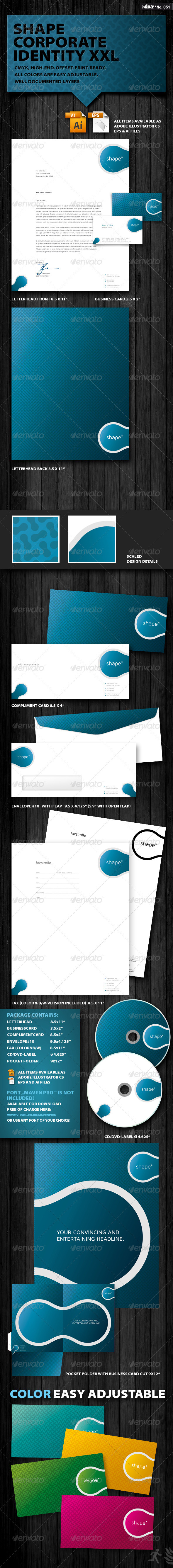 Shape Corporate Identity XXL - Stationery Print Templates