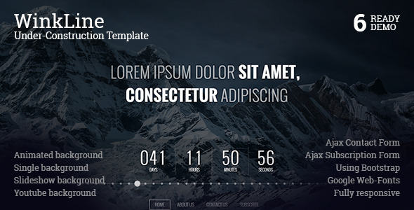 Winkline under construction template by ncodeart themeforest screenshots00preview bannerg pronofoot35fo Choice Image