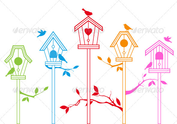 Bird Houses - Animals Characters