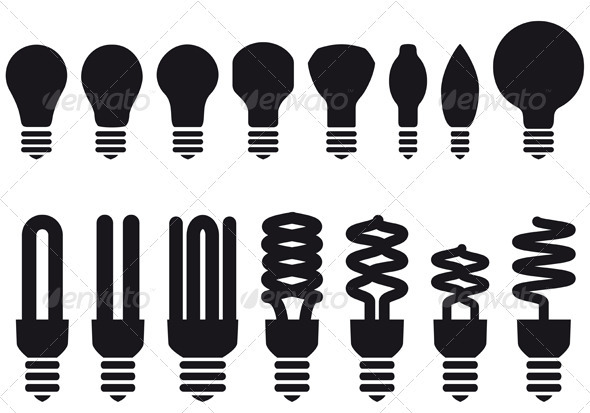 Energy Saving Bulbs - Man-made Objects Objects