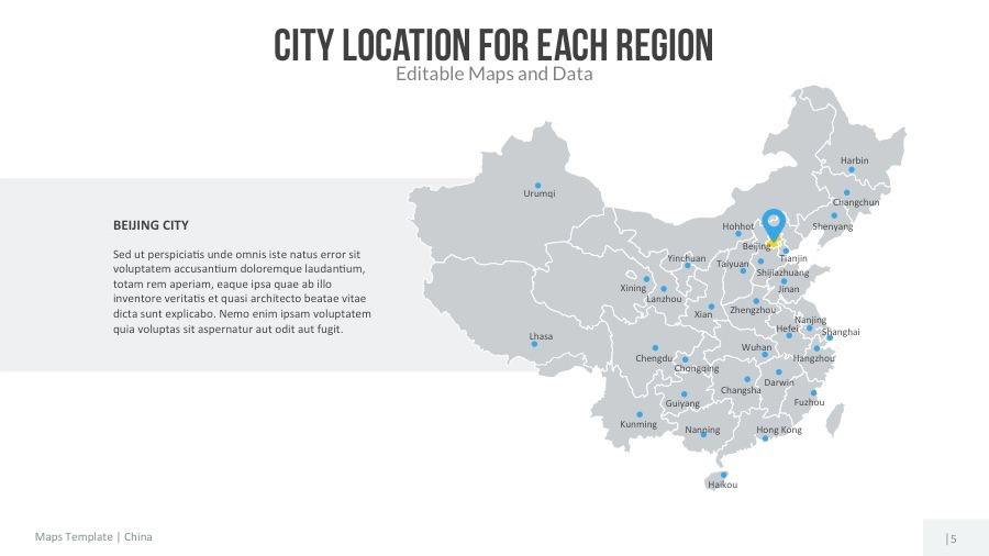 China Map - Editable Map Presentation by slidekingdom | GraphicRiver