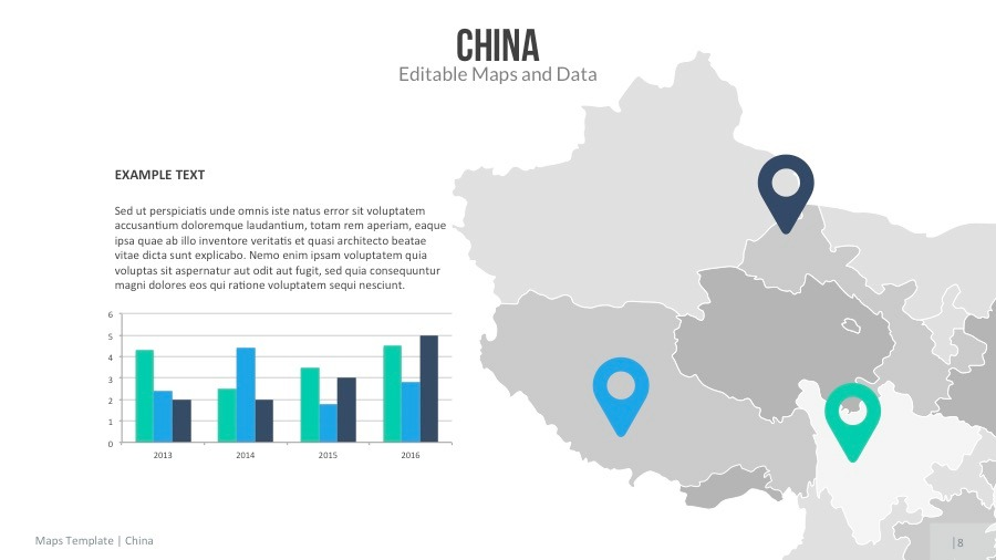 china map editable map presentation by slidekingdom graphicriver