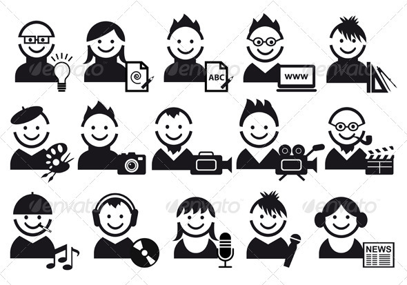 Creative People Icons - People Characters