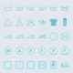 Washing And Ironing Clothes Color Flat Icon Set