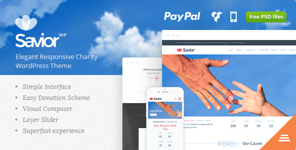Savior - Charity & Donations WordPress Theme - Charity Nonprofit