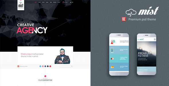 Mist-One Page Multipurpose Creative Template - Business Corporate