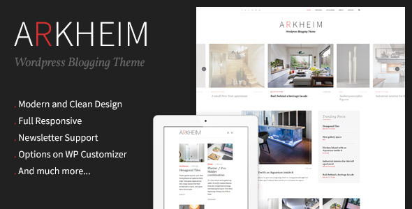 Arkheim - WordPress Blog Theme - Blog / Magazine WordPress