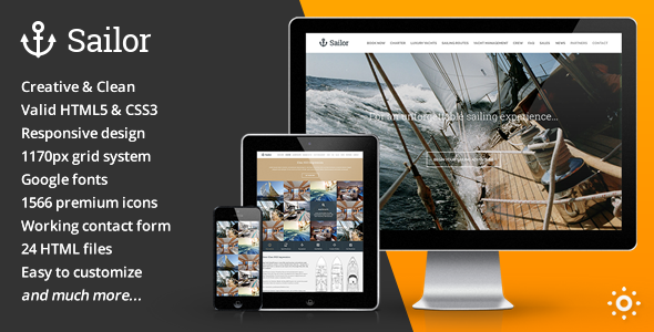 Sailor – Yacht Charter Booking HTML Template