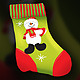 Vector Christmas socks for gifts with snowman - GraphicRiver Item for Sale