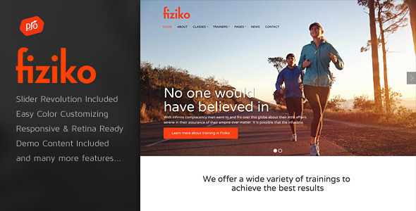 Fiziko – Fitness & GYM WordPress Theme