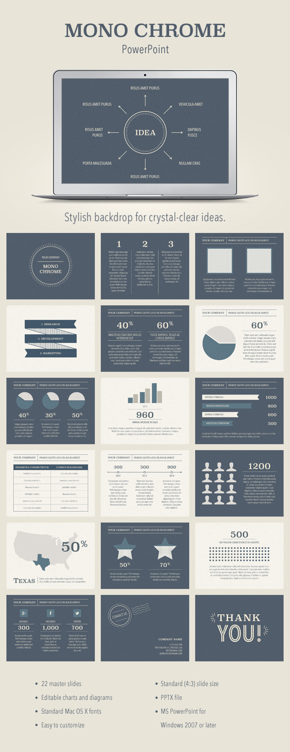 Mono Chrome PowerPoint Template