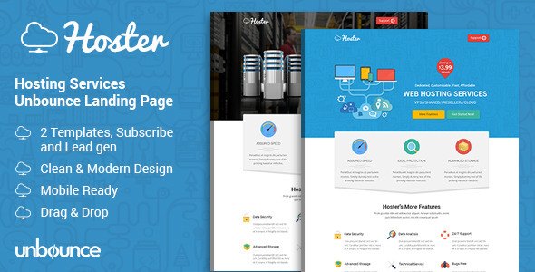 Hoster – Hosting Services Landing Page