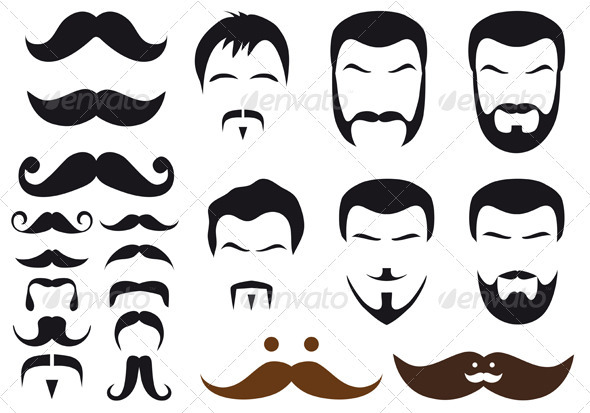 Mustache And Beard Styles - People Characters