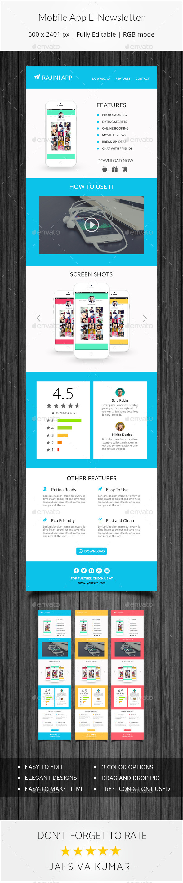 Mobile App Email Template By Jaisivakumar Graphicriver