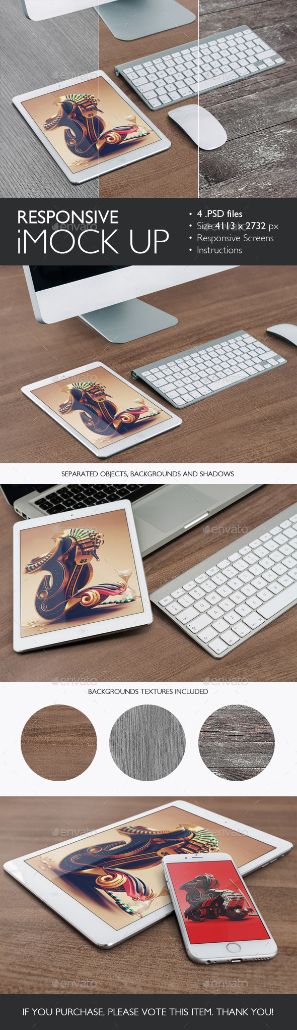 Responsive iMock Up - Product Mock-Ups Graphics