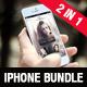 Realistic Phone 5s Mockup Bundle 2 in 1