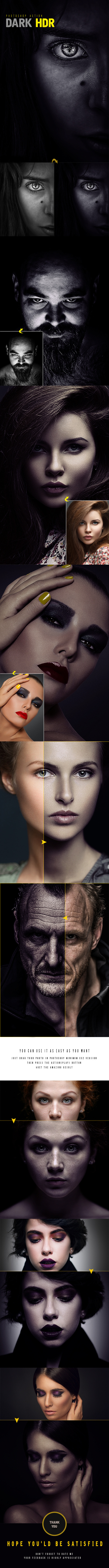 Dark HDR Photoshop Action - Photo Effects Actions