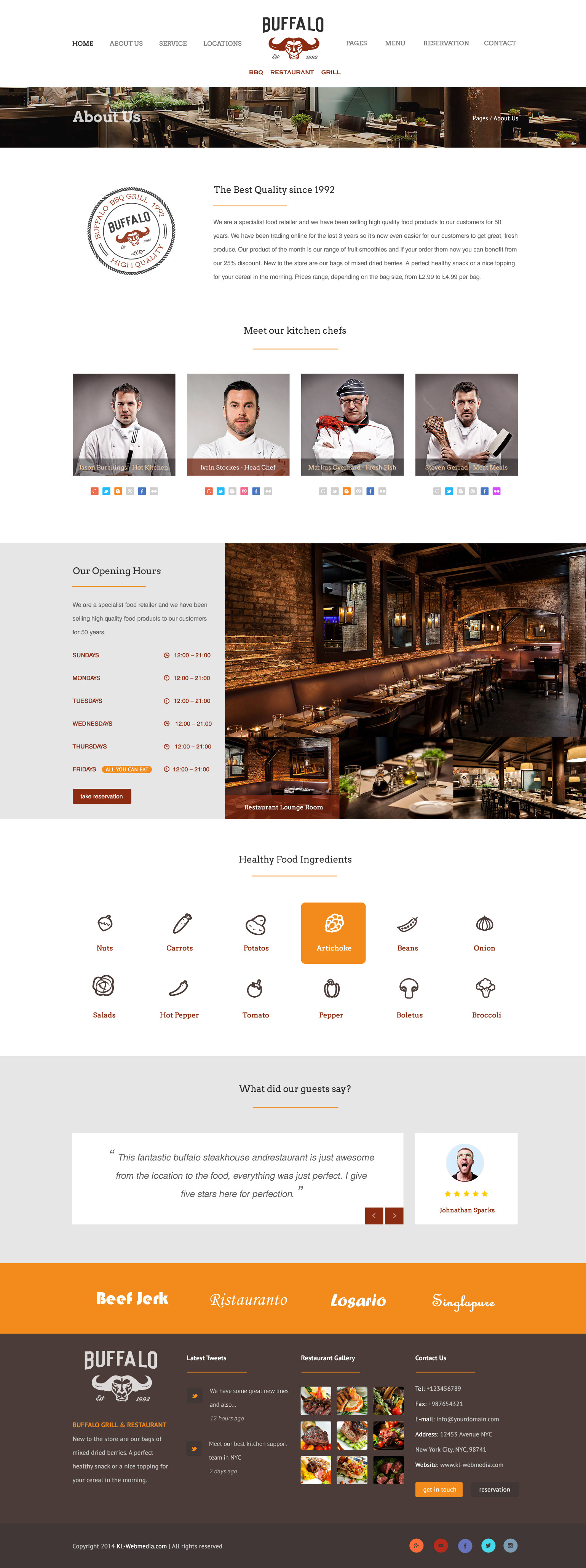Buffalo   An Exquisite Restaurant HTML Template