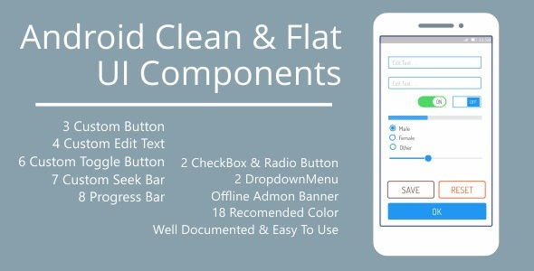 Android Clean & Flat UI Components - CodeCanyon Item for Sale