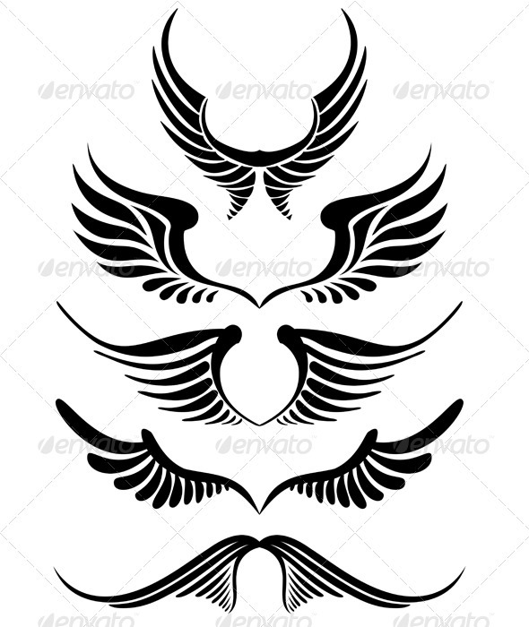Vector Wings - Tattoos Vectors
