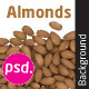 Almonds Isolated Backround - GraphicRiver Item for Sale