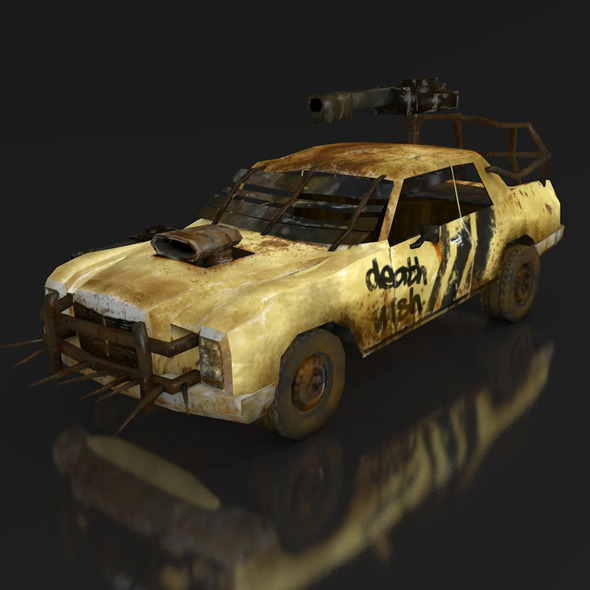 postapo Mercedes Benz W114 (1968), LOW POLY - 3DOcean Item for Sale