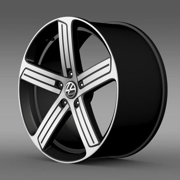 Volkswagen Golf R rim - 3DOcean Item for Sale