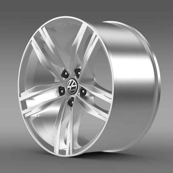 Volkswagen Golf TDI rim - 3DOcean Item for Sale