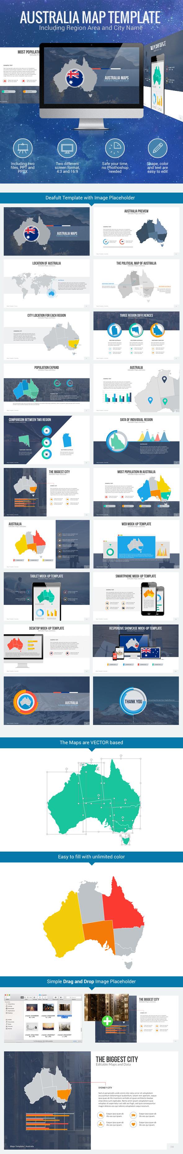 Australia Map - Editable Map Presentation