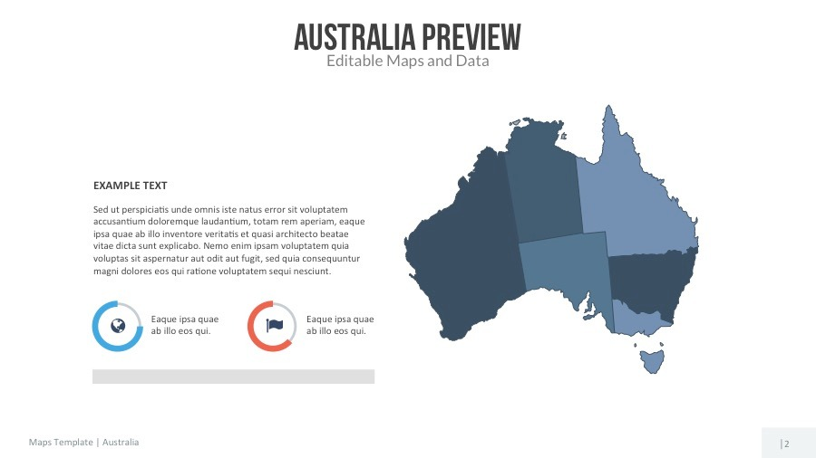 australia map editable map presentation by slidekingdom graphicriver