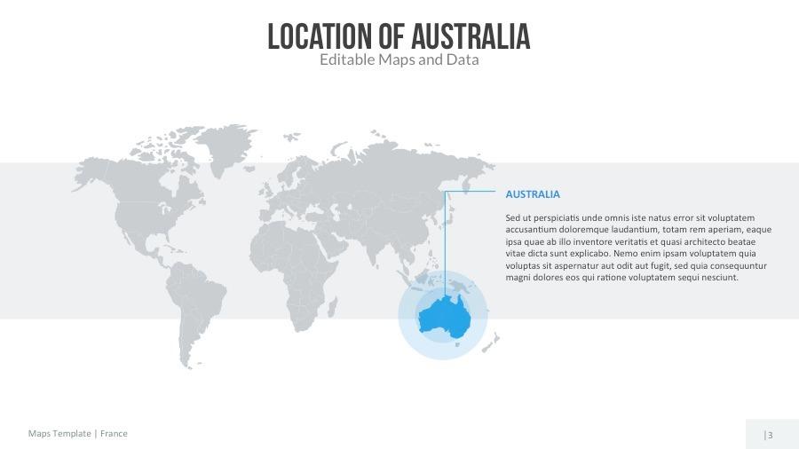 Australia Map Template.Australia Map Editable Map Presentation