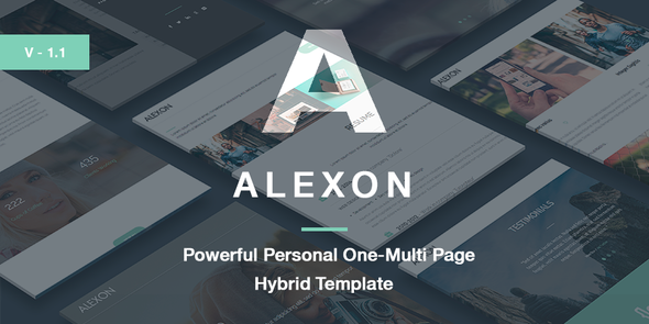 Alexon – Personal One-Multi Page Hybrid Template