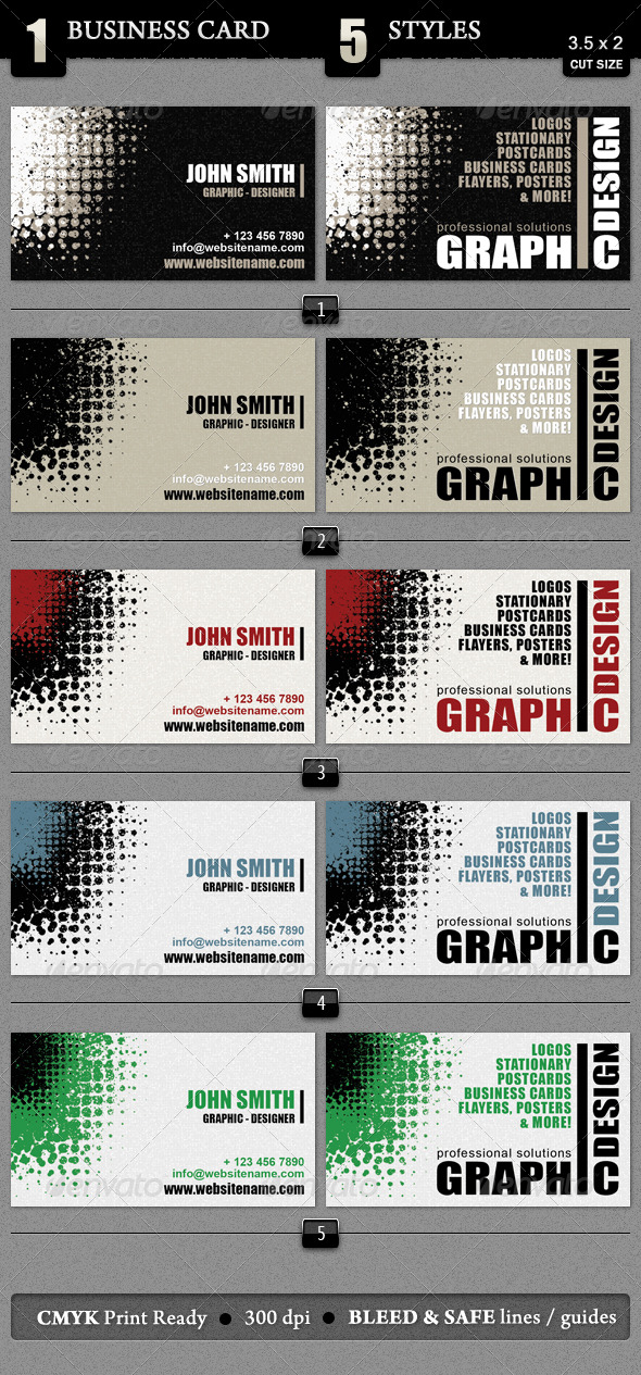 Creative Business Card - Grunge Business Cards