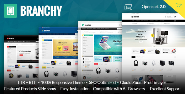 Branchy – Opencart Responsive Theme
