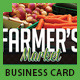 Farmer's Market Commerce Business Cards - GraphicRiver Item for Sale