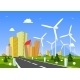 Road Into The City Around Wind Power Station - GraphicRiver Item for Sale