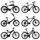 Set Of Silhouettes Of Different Bikes. Vector - GraphicRiver Item for Sale