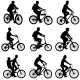 Set Silhouette Of a Cyclist Male And Female - GraphicRiver Item for Sale