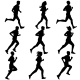Set Of Silhouettes. Runners On Sprint, Men. Vector - GraphicRiver Item for Sale