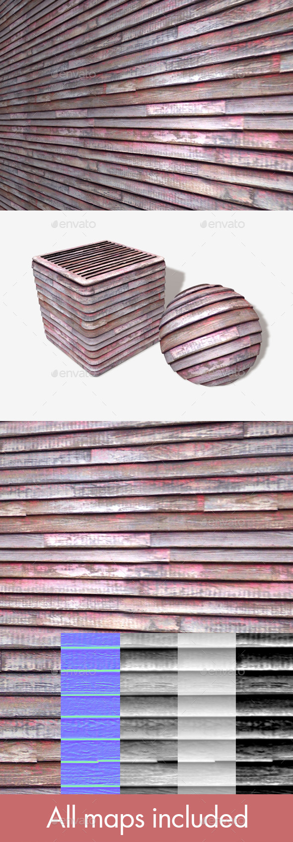 Weathered Painted Wood Seamless Texture - 3DOcean Item for Sale