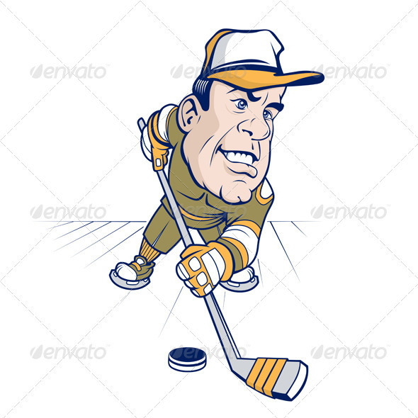 Hockey Cartoon Character  - People Characters