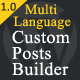 WordPress Multilanguage Custom Posts Builder PRO - CodeCanyon Item for Sale