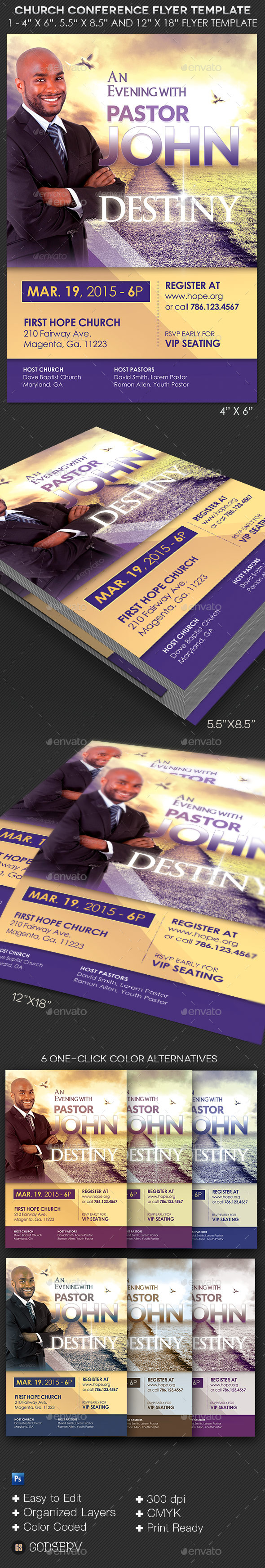 Church Conference Flyer Poster Template - Church Flyers