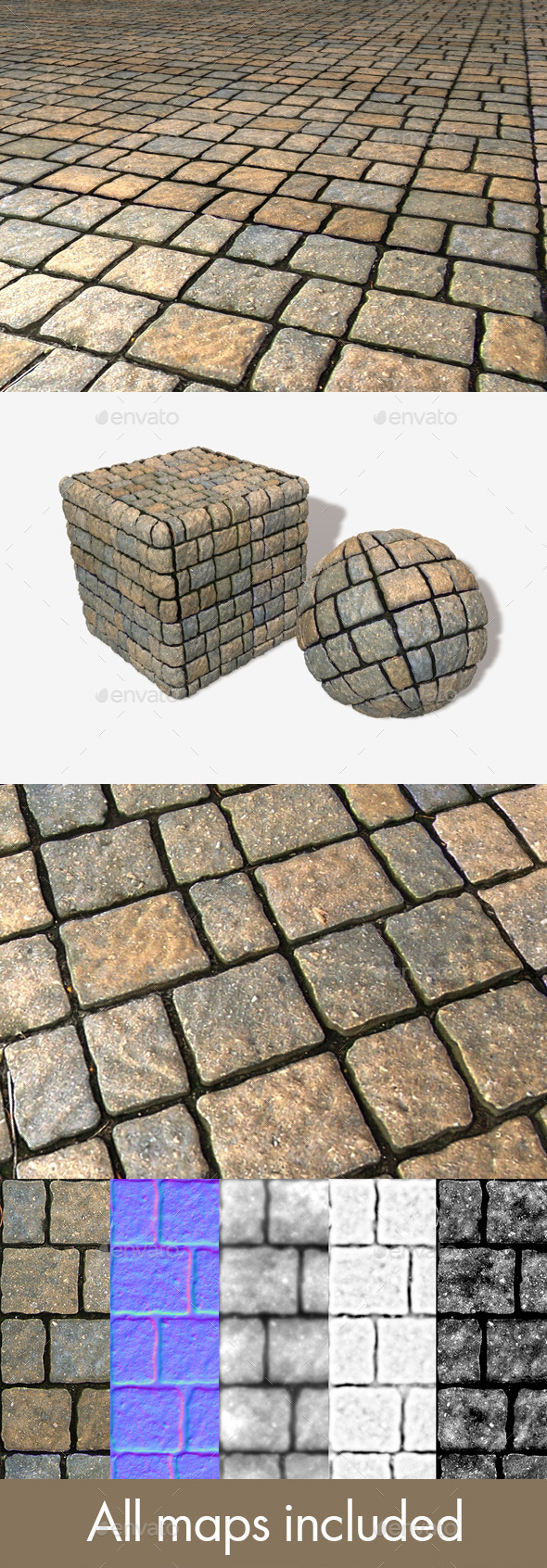Floor Bricks Seamless Texture - 3DOcean Item for Sale