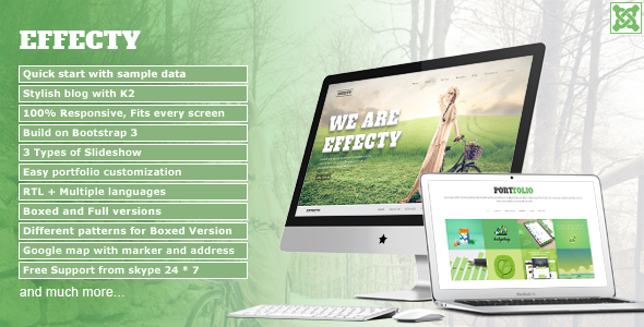 Effecty – Responsive Single Page Joomla Theme