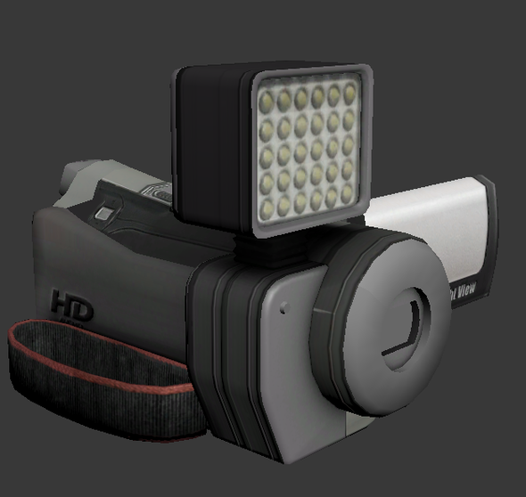 Low Poly HandyCam - 3DOcean Item for Sale